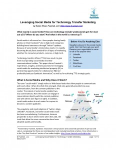 Leveraging Social Media For Tech Transfer Marketing paper