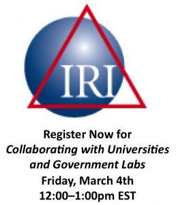Register for IRI webinar