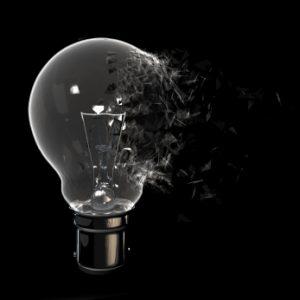 shattering lightbulb