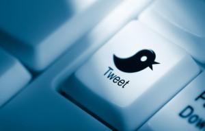 Tweet key on computer keyboard