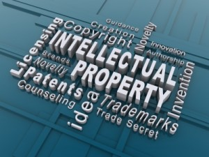 Collage of intellectual property terminology